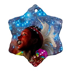 African Star Dreamer Snowflake Ornament (2 Side) by icarusismartdesigns