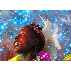 African Star Dreamer Birthday Cake 3d Greeting Card (7x5) by icarusismartdesigns