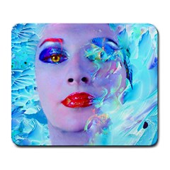Swimming Into The Blue Large Mousepads by icarusismartdesigns