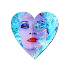 Swimming Into The Blue Heart Magnet by icarusismartdesigns
