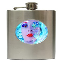 Swimming Into The Blue Hip Flask (6 Oz) by icarusismartdesigns