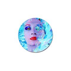 Swimming Into The Blue Golf Ball Marker by icarusismartdesigns