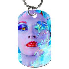 Swimming Into The Blue Dog Tag (two Sides) by icarusismartdesigns