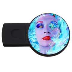 Swimming Into The Blue Usb Flash Drive Round (2 Gb)  by icarusismartdesigns