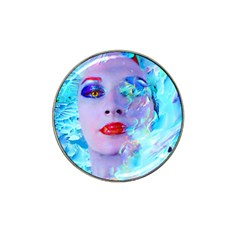 Swimming Into The Blue Hat Clip Ball Marker by icarusismartdesigns