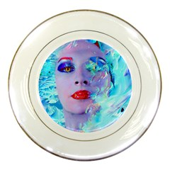Swimming Into The Blue Porcelain Plates by icarusismartdesigns