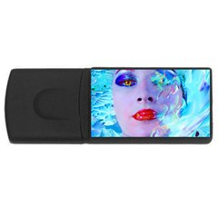 Swimming Into The Blue Usb Flash Drive Rectangular (4 Gb)  by icarusismartdesigns