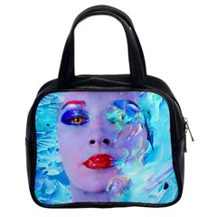 Swimming Into The Blue Classic Handbags (2 Sides) by icarusismartdesigns