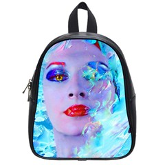 Swimming Into The Blue School Bags (small)  by icarusismartdesigns