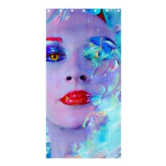 Swimming Into The Blue Shower Curtain 36  X 72  (stall)  by icarusismartdesigns