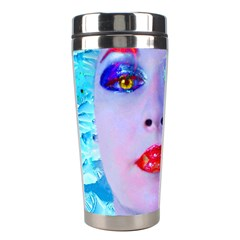 Swimming Into The Blue Stainless Steel Travel Tumblers by icarusismartdesigns