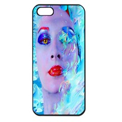 Swimming Into The Blue Apple Iphone 5 Seamless Case (black) by icarusismartdesigns