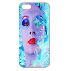 Swimming Into The Blue Apple Seamless Iphone 5 Case (clear) by icarusismartdesigns