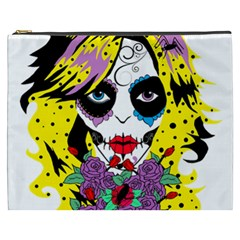 Gothic Sugar Skull Cosmetic Bag (xxxl)  by burpdesignsA