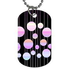 Pink Elegance  Dog Tag (one Side) by Valentinaart