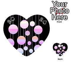 Pink Elegance  Playing Cards 54 (heart)  by Valentinaart