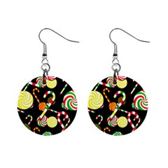 Xmas Candies  Mini Button Earrings by Valentinaart