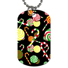 Xmas Candies  Dog Tag (one Side) by Valentinaart
