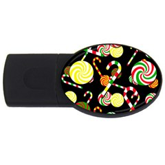 Xmas Candies  Usb Flash Drive Oval (2 Gb)  by Valentinaart