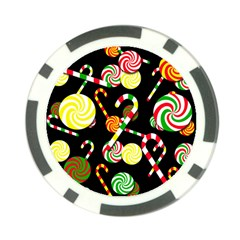 Xmas Candies  Poker Chip Card Guards by Valentinaart
