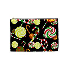 Xmas Candies  Cosmetic Bag (medium)  by Valentinaart