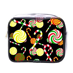 Xmas Candies  Mini Toiletries Bags by Valentinaart