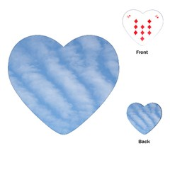 Wavy Clouds Playing Cards (Heart)  by GiftsbyNature