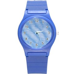 Wavy Clouds Round Plastic Sport Watch (s) by GiftsbyNature