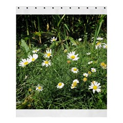 White Daisy Flowers Shower Curtain 60  X 72  (medium)  by picsaspassion
