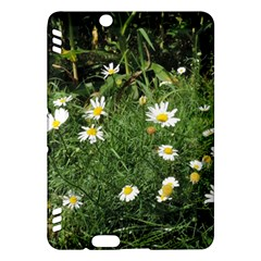 White Daisy flowers Kindle Fire HDX Hardshell Case by picsaspassion