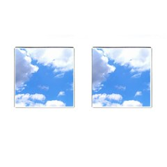 Clouds And Blue Sky Cufflinks (square) by picsaspassion