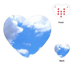 Clouds And Blue Sky Playing Cards (heart)  by picsaspassion