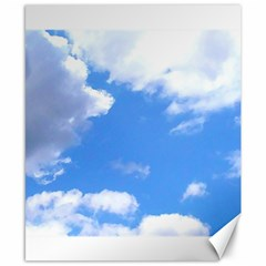 Clouds And Blue Sky Canvas 8  X 10  by picsaspassion