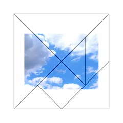 Clouds And Blue Sky Acrylic Tangram Puzzle (6  X 6 ) by picsaspassion