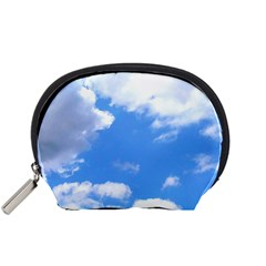 Clouds And Blue Sky Accessory Pouches (small)  by picsaspassion