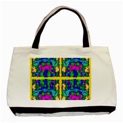 Shimmering Landscape Abstracte Basic Tote Bag by pepitasart