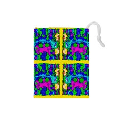 Shimmering Landscape Abstracte Drawstring Pouches (small)  by pepitasart