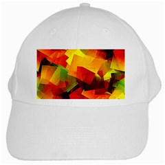 Indian Summer Cubes White Cap by designworld65