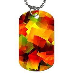 Indian Summer Cubes Dog Tag (two Sides) by designworld65