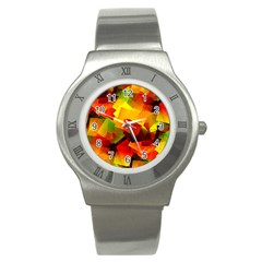 Indian Summer Cubes Stainless Steel Watch by designworld65