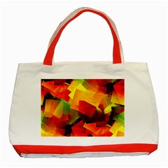 Indian Summer Cubes Classic Tote Bag (red) by designworld65