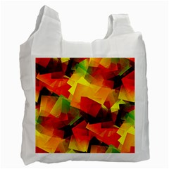 Indian Summer Cubes Recycle Bag (two Side)  by designworld65