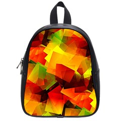 Indian Summer Cubes School Bags (small)  by designworld65