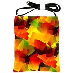 Indian Summer Cubes Shoulder Sling Bags by designworld65