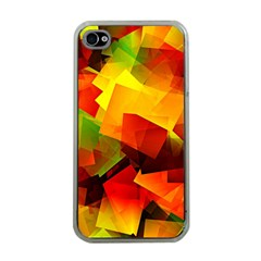 Indian Summer Cubes Apple Iphone 4 Case (clear) by designworld65