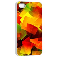 Indian Summer Cubes Apple Iphone 4/4s Seamless Case (white) by designworld65