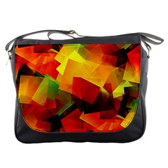 Indian Summer Cubes Messenger Bags by designworld65