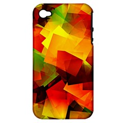 Indian Summer Cubes Apple Iphone 4/4s Hardshell Case (pc+silicone) by designworld65