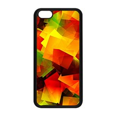 Indian Summer Cubes Apple Iphone 5c Seamless Case (black) by designworld65