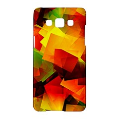 Indian Summer Cubes Samsung Galaxy A5 Hardshell Case  by designworld65